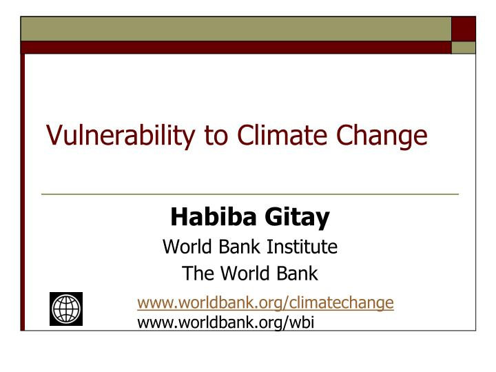 vulnerability to climate change n.