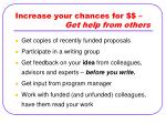 increase your chances for get help from others
