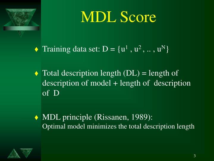 Mdl score