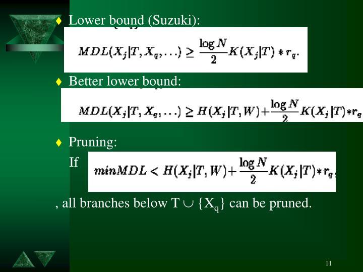 Lower bound (Suzuki):