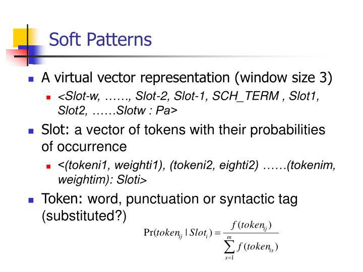 Soft Patterns