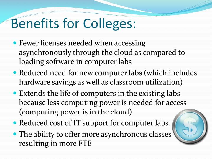 Benefits for Colleges: