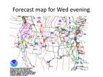 forecast map for wed evening