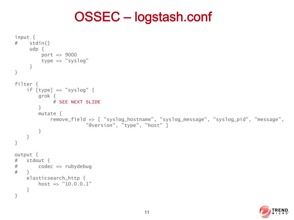 PPT - OSSEC Log Management with Elasticsearch PowerPoint