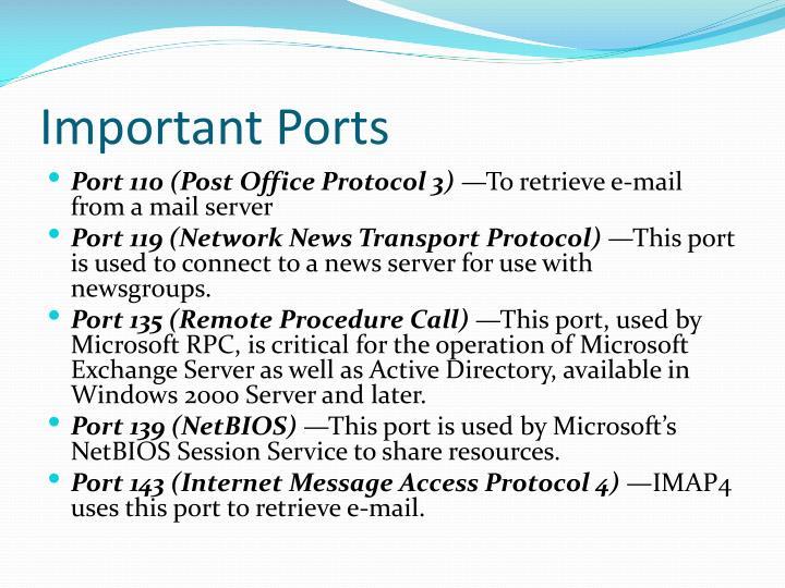 Important Ports
