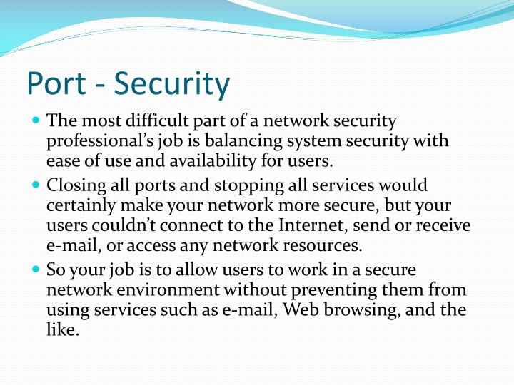 Port - Security