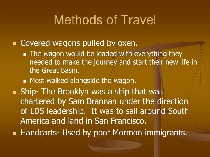 Methods of Travel