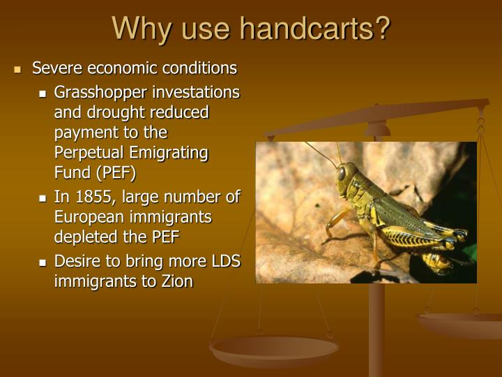 Why use handcarts?