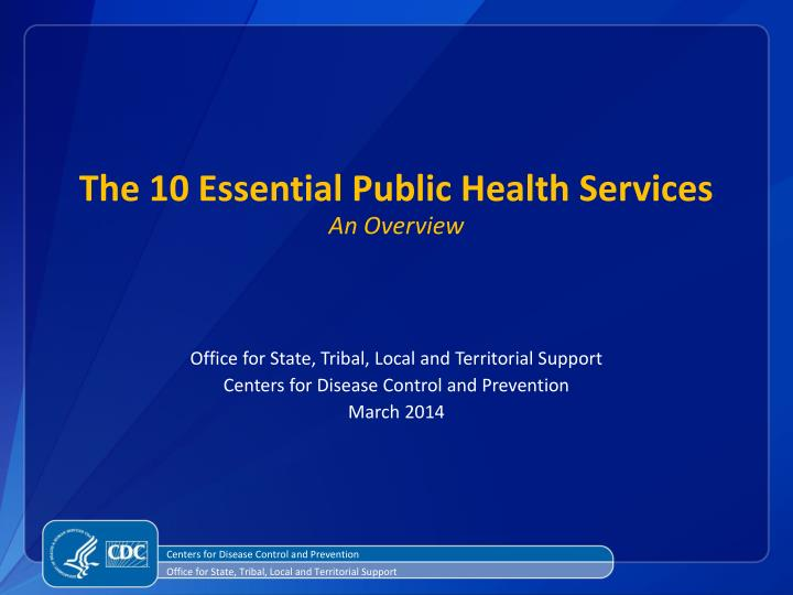 the 10 essential public health services an overview n.