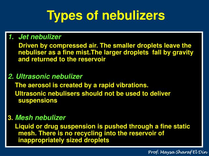 Types of nebulizers