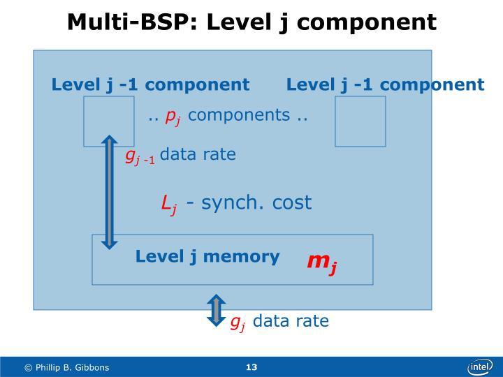Multi-BSP: Level j component