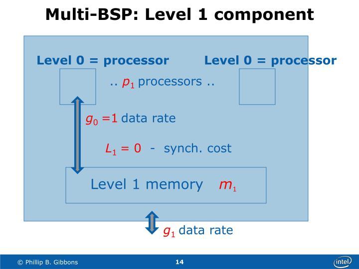 Multi-BSP: Level 1 component