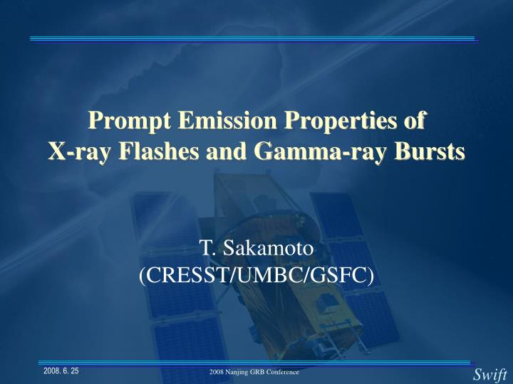 prompt emission properties of x ray flashes and gamma ray bursts n.