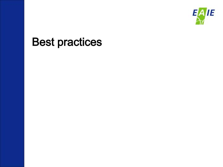Best practices