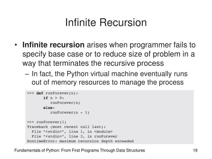 Infinite Recursion