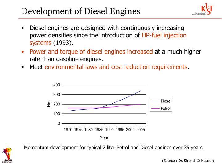 Development of Diesel Engines