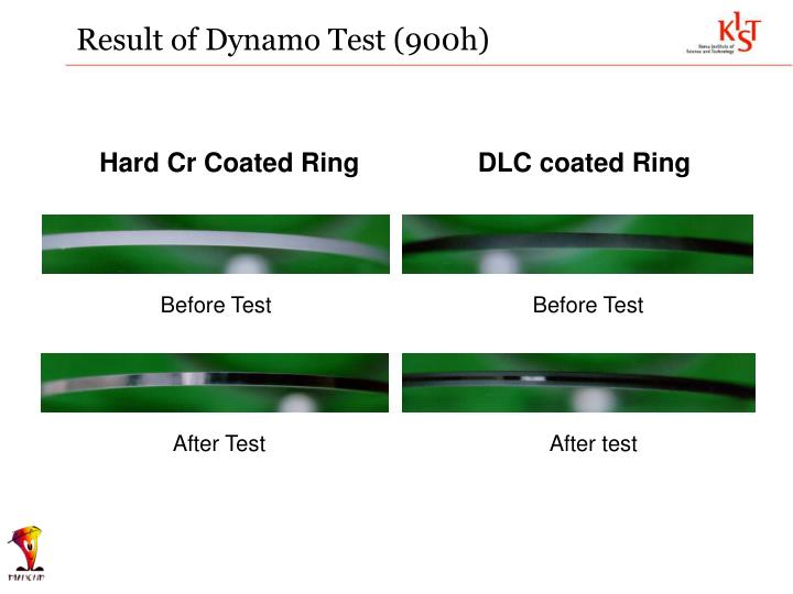 Result of Dynamo Test (900h)