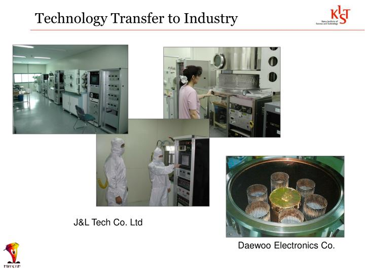 Technology Transfer to Industry