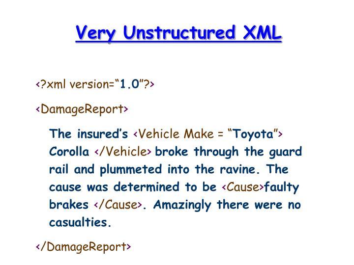 Very Unstructured XML