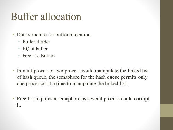 Buffer allocation