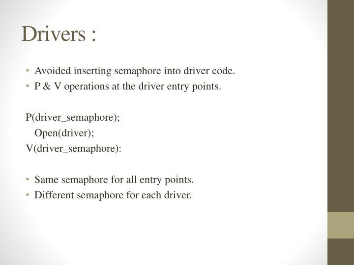 Drivers :