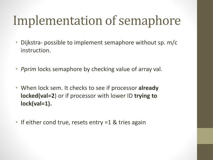 Implementation of semaphore