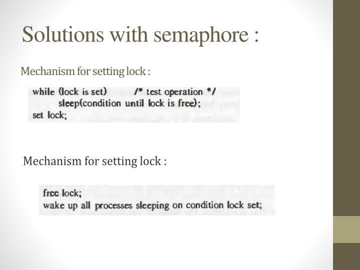 Mechanism for setting lock :