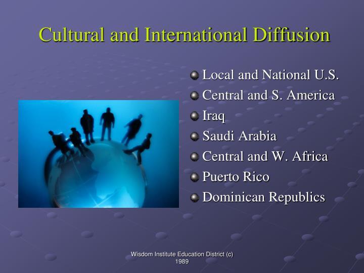 Cultural and International Diffusion