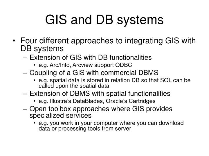 GIS and DB systems