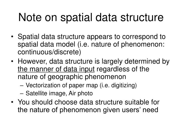 Note on spatial data structure