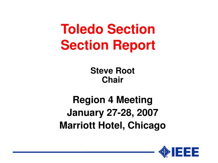toledo section section report n.