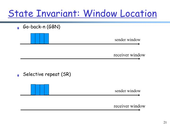 State Invariant: Window Location