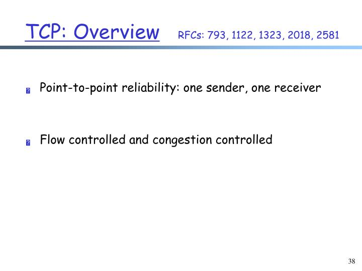 TCP: Overview