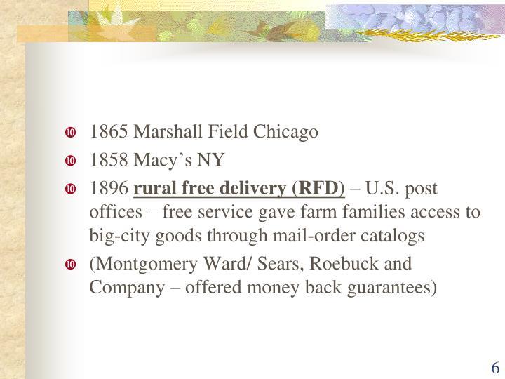 1865 Marshall Field Chicago