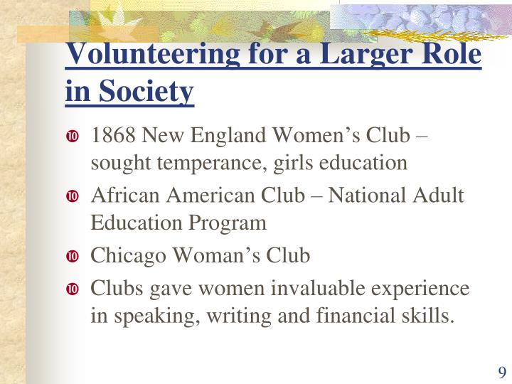 Volunteering for a Larger Role in Society