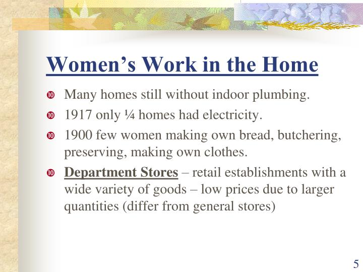 Women's Work in the Home