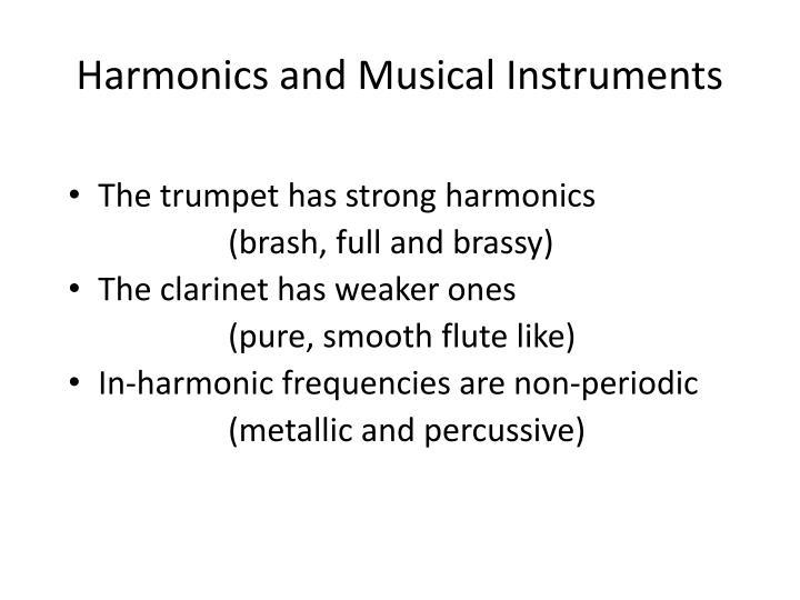 Harmonics and Musical Instruments