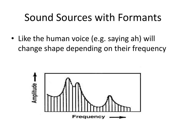 Sound Sources with Formants