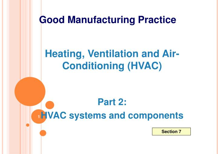 PPT - Heating, Ventilation and Air- Conditioning (HVAC) Part