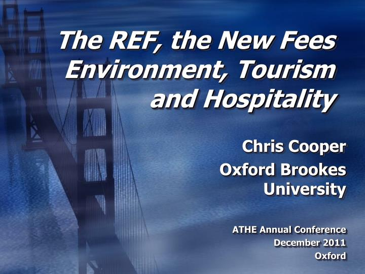 the ref the new fees environment tourism and hospitality n.