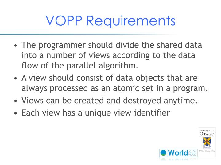 VOPP Requirements