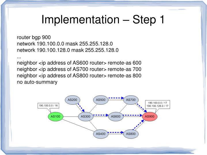 Implementation – Step 1