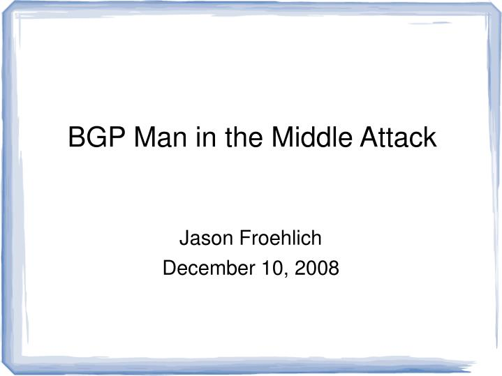 Jason froehlich december 10 2008