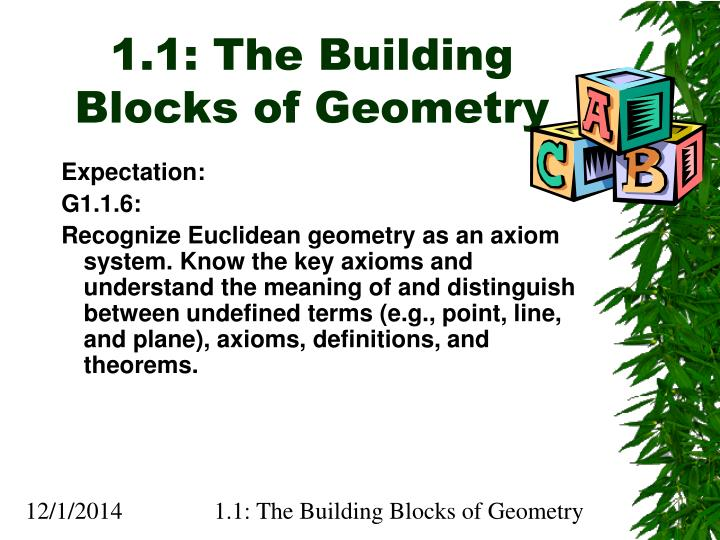 ppt 1 1 the building blocks of geometry powerpoint presentation