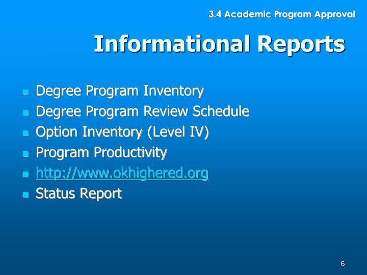 3.4 Academic Program Approval