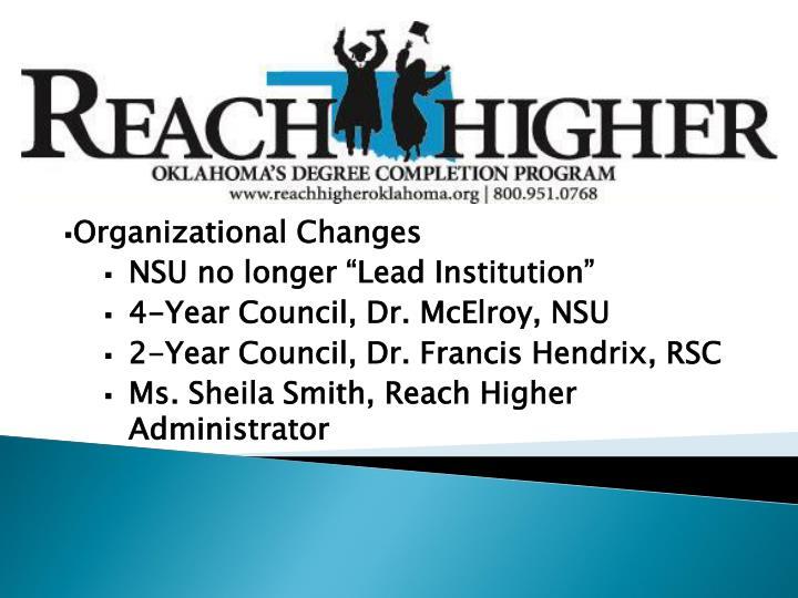 Organizational Changes