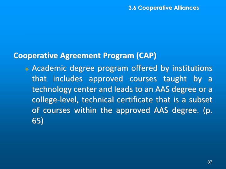 3.6 Cooperative Alliances