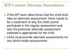 iep content alternate assessments