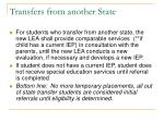 transfers from another state