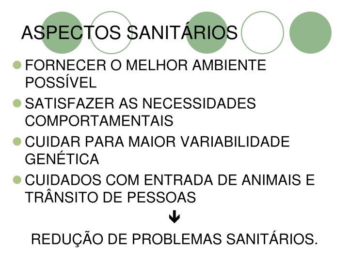 ASPECTOS SANITÁRIOS